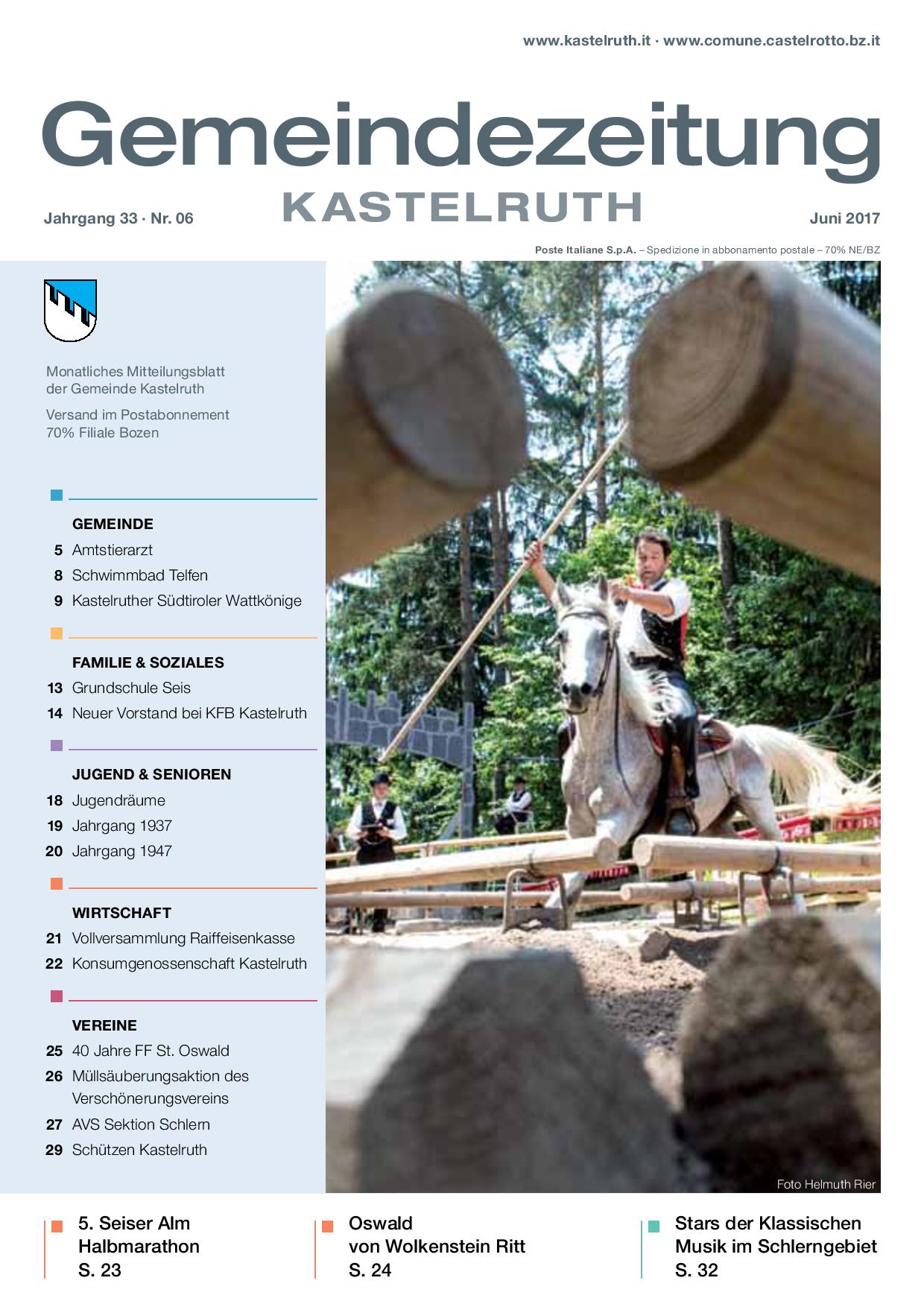 mensile del Comune di Castelrotto - edizione giugno 2017 ...